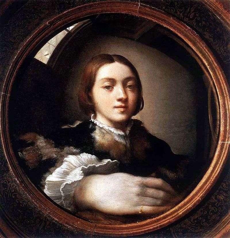 Self portrait in a convex mirror by Francesco Parmigianino