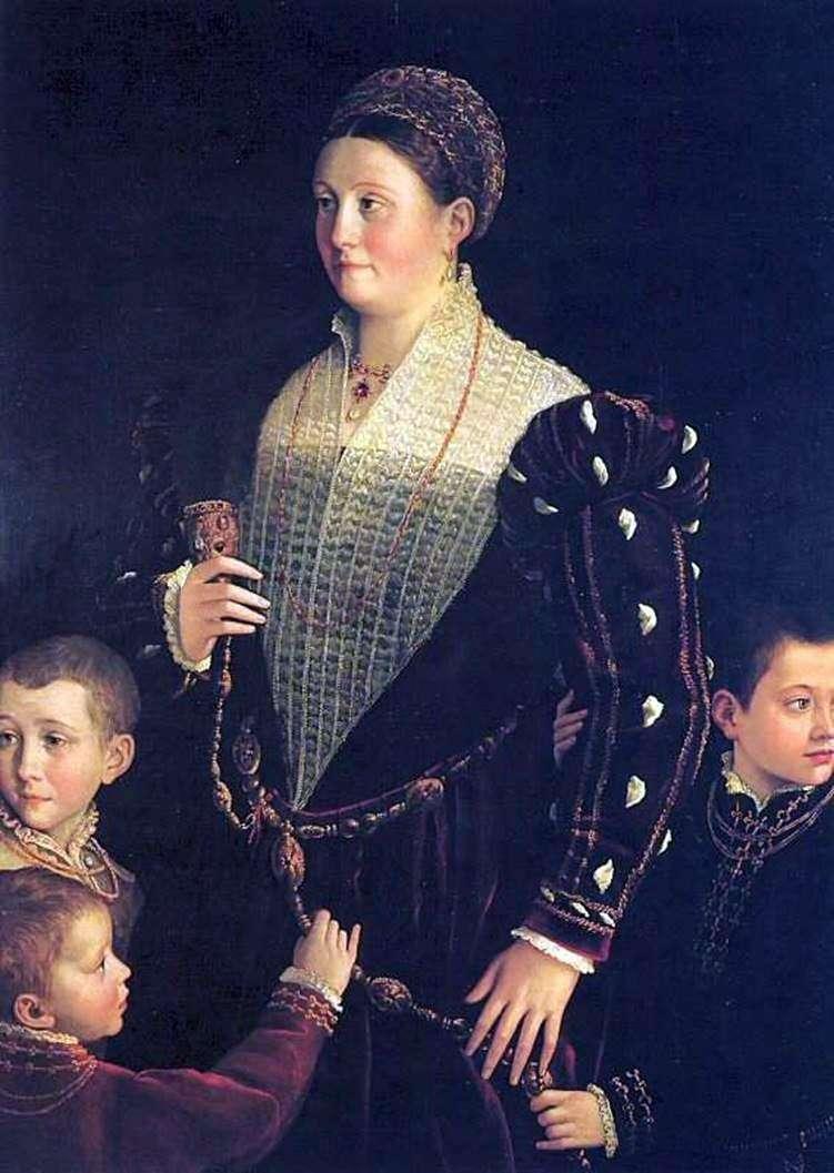 Viscountess Sansecondo with children by Francesco Parmigianino