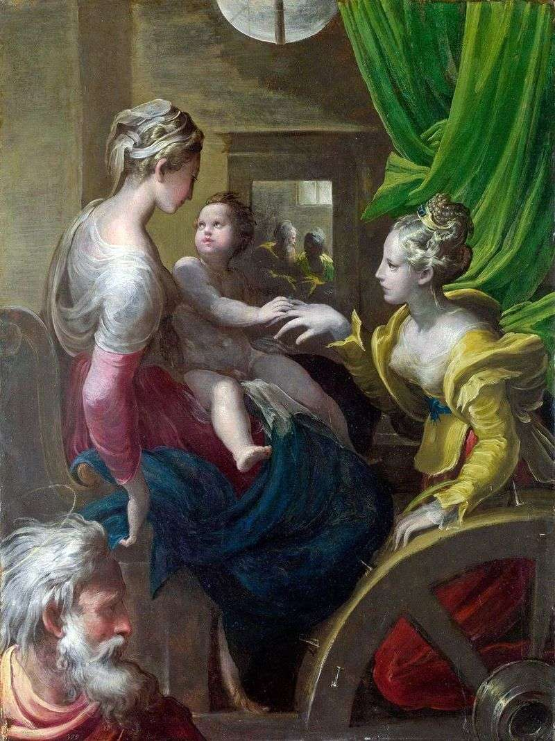 The mystical betrothal of St. Catherine by Francesco Parmigianino