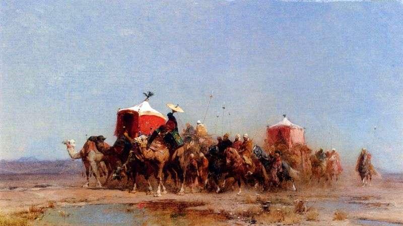 Desert Caravan by Alberto Pasini