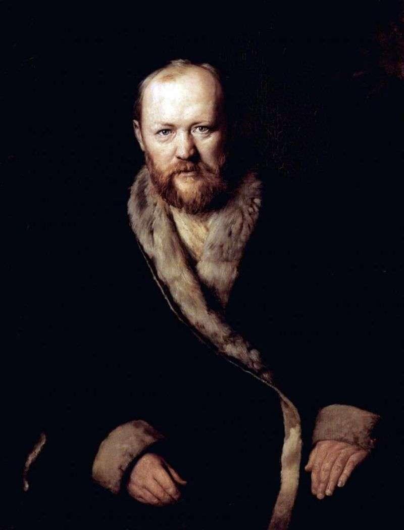 Portrait of A. N. Ostrovsky, writer by Vasily Perov