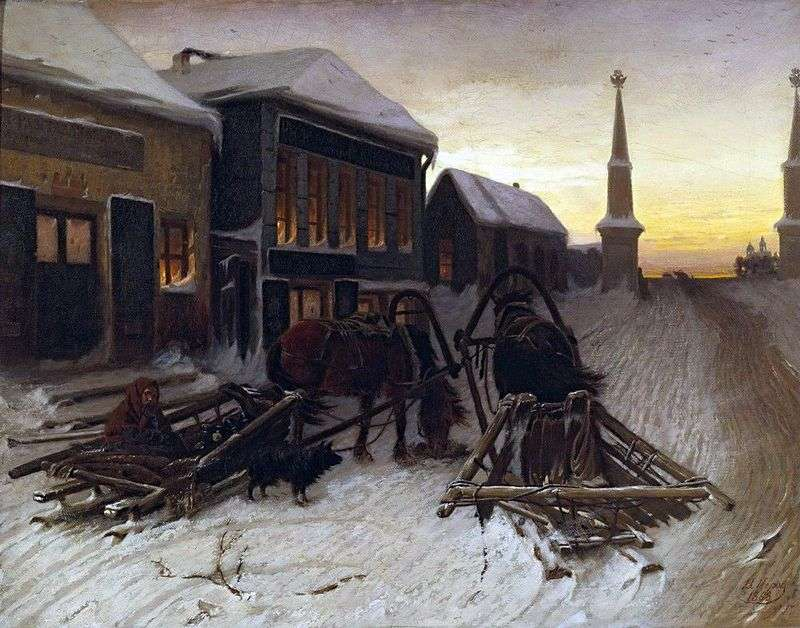 The last tavern at the outpost by Vasily Perov