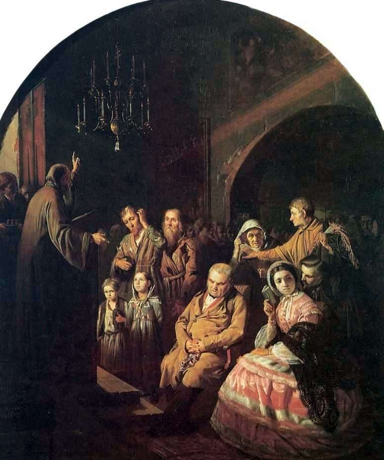 Sermon in the village by Vasily Perov