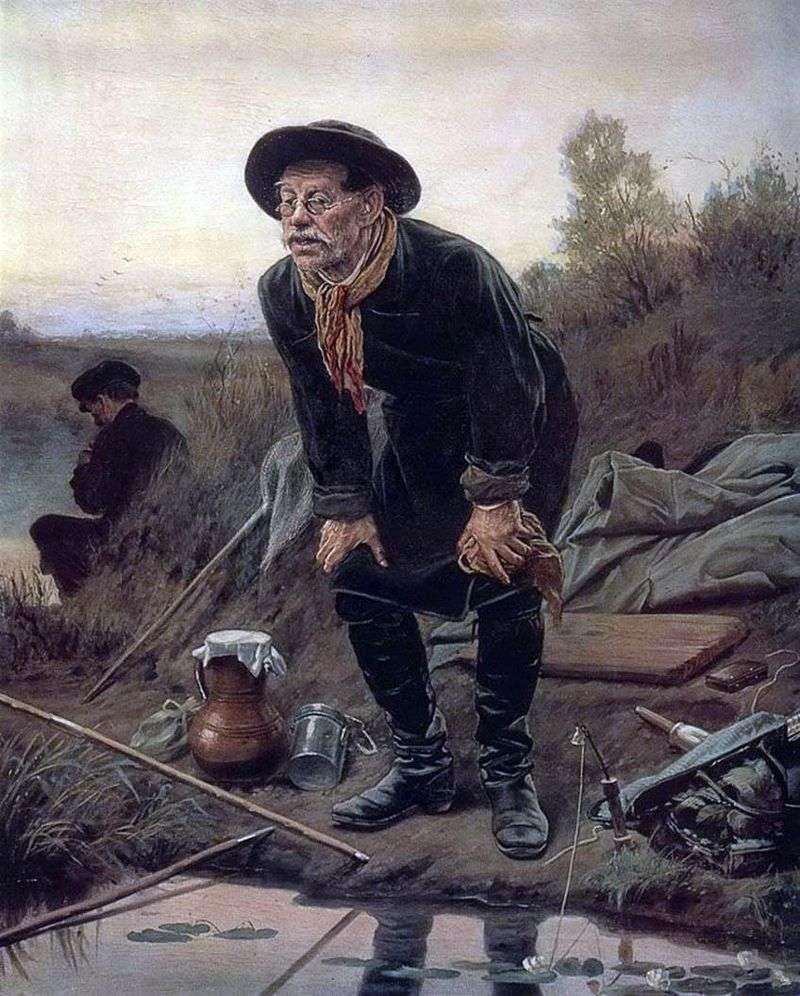Fisherman by Vasily Perov