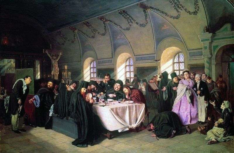 Meal by Vasily Perov
