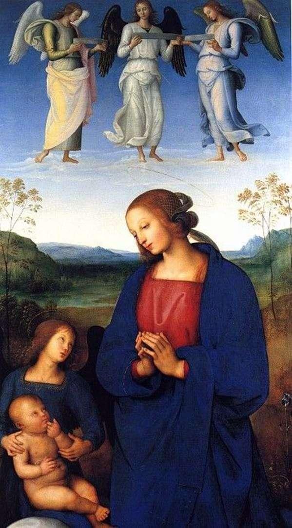 Madonna, Child and Angel by Pietro di Christophoro Vanucci Perugino