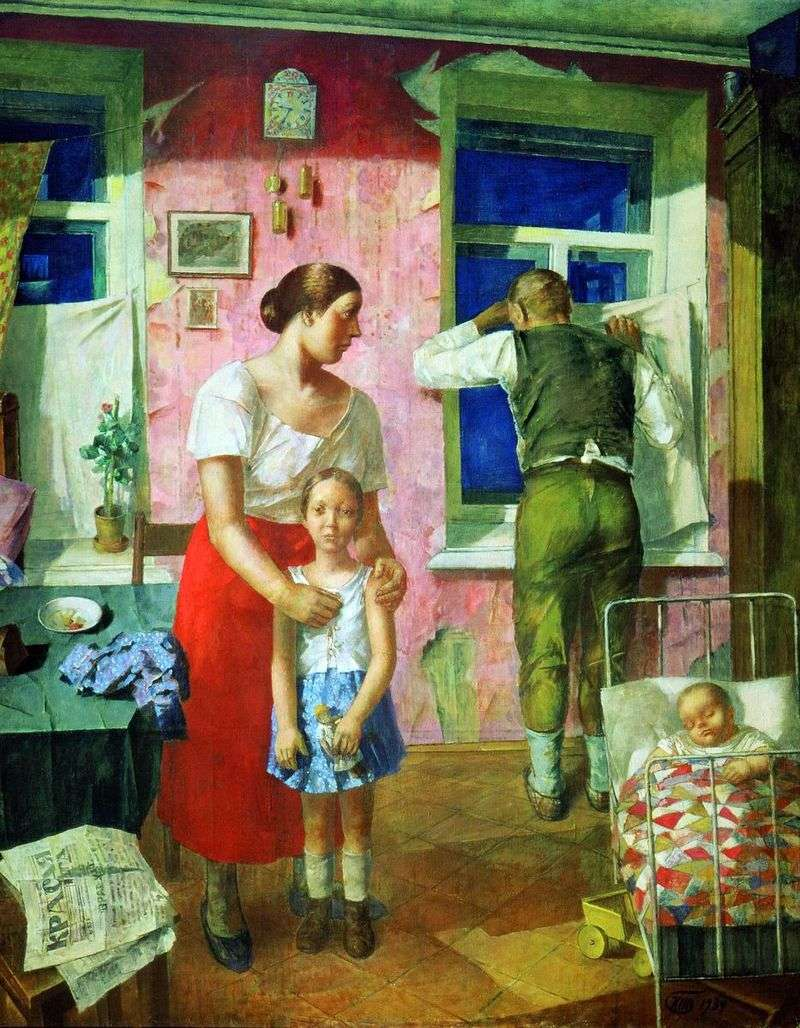 1919 Anxiety by Kuzma Sergeevich Petrov Vodkin