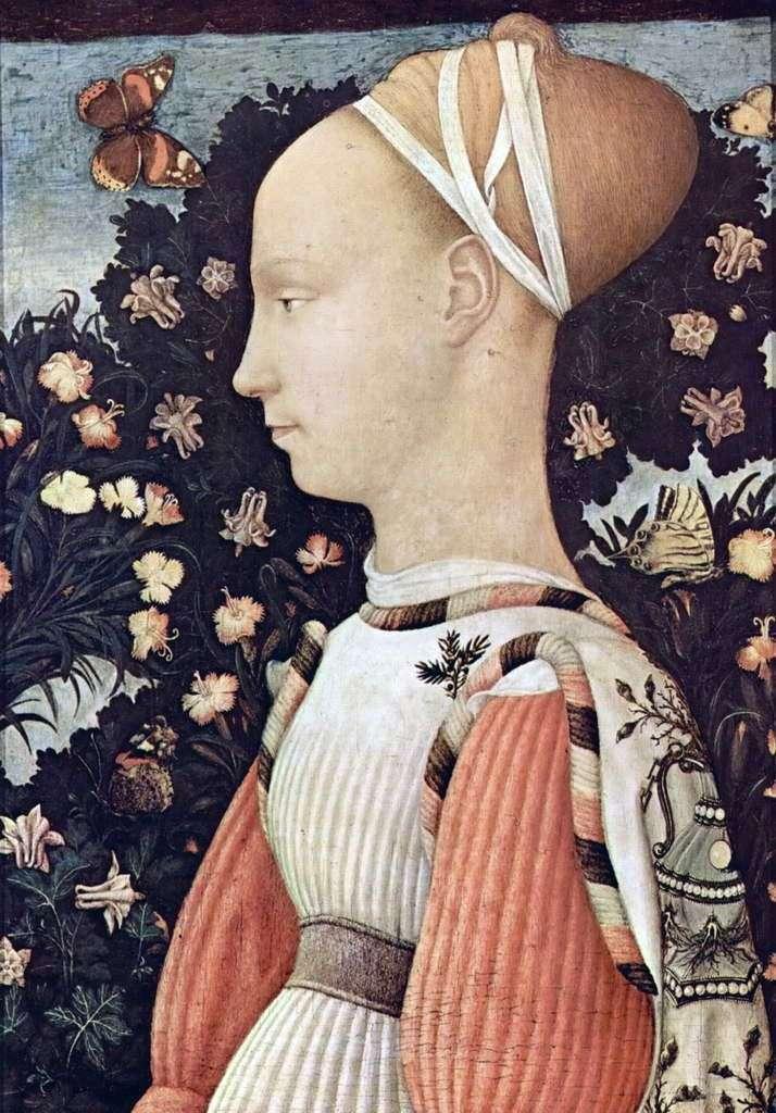 Portrait of Ginevra d Este by Antonio Pisanello