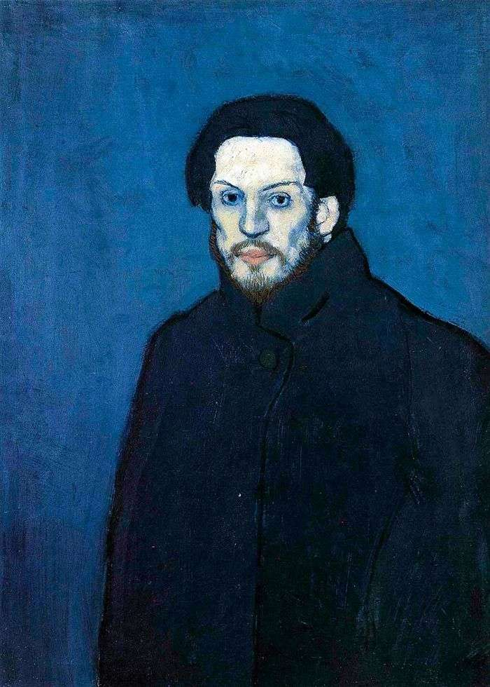 Self Portrait in the Blue Period by Pablo Picasso