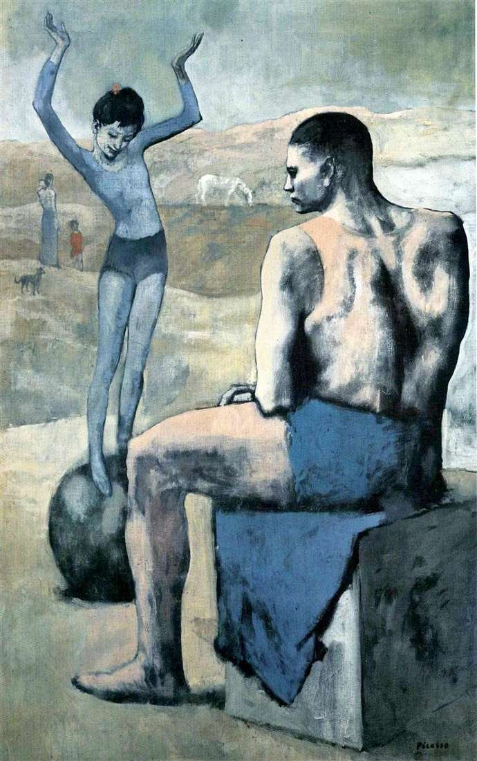 The girl on the ball by Pablo Picasso