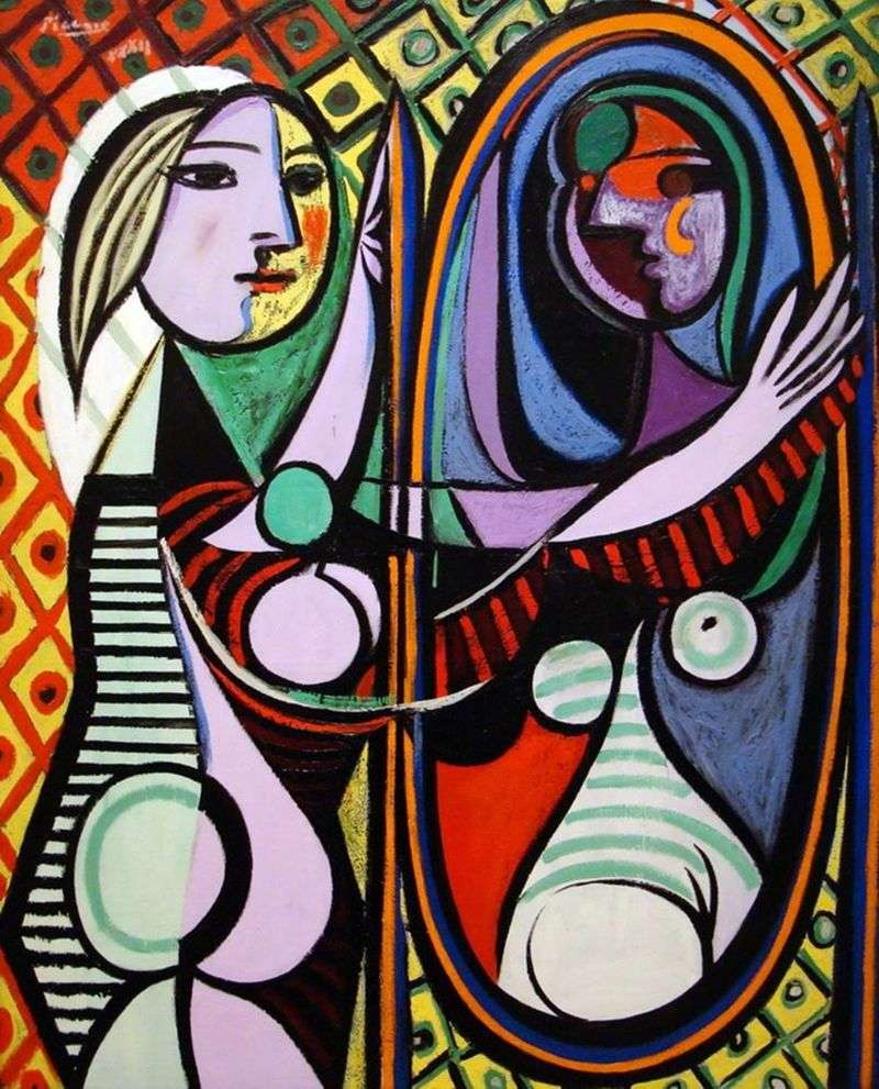 The girl in front of the mirror by Pablo Picasso