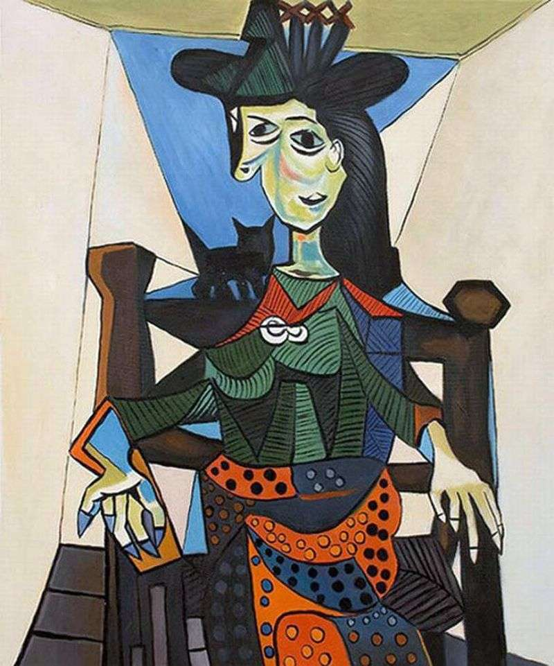 Dora Maar with a cat by Pablo Picasso