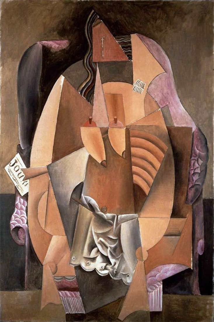 Woman in a shirt sitting in a chair by Pablo Picasso