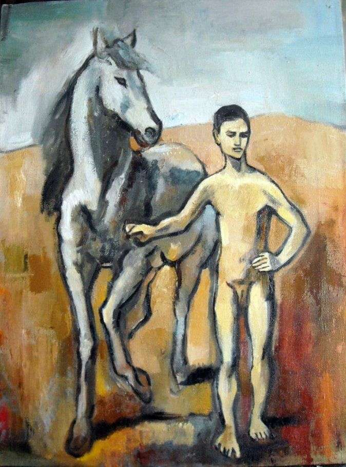 The boy is the lead horse by Pablo Picasso