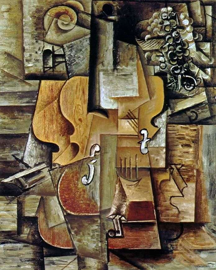 Violin and Grapes by Pablo Picasso