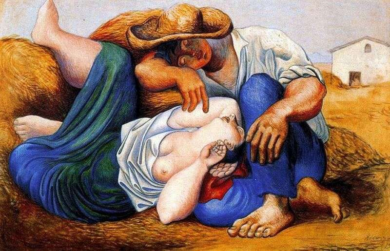 Sleeping peasants by Pablo Picasso