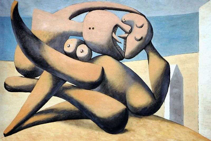 Figures on the beach by Pablo Picasso