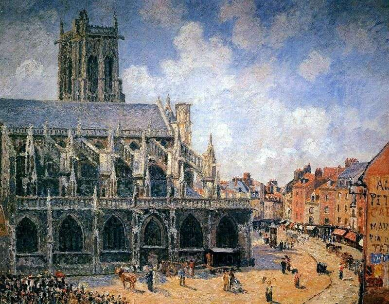 Church of St. Jacques. Dieppe by Camille Pissarro