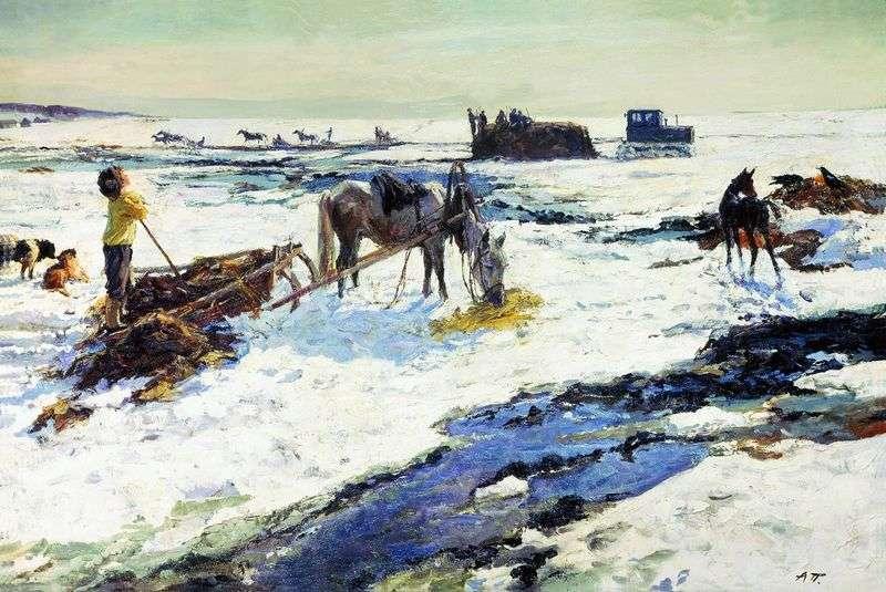 Rustic March by Arkady Plastov