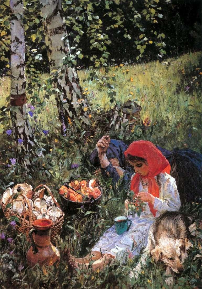 In the summer by Arkady Plastov