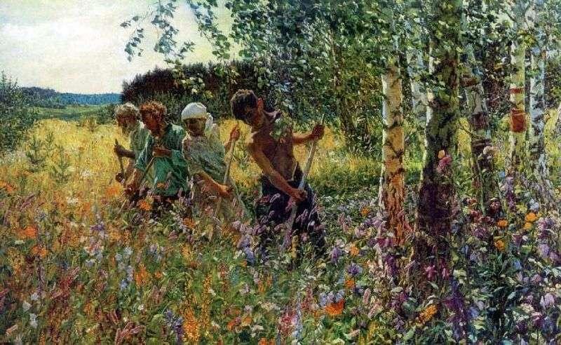 Haymaking by Arkady Plastov