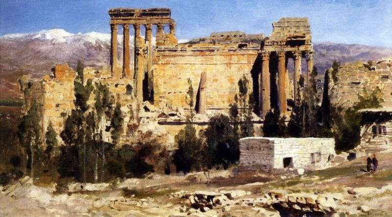 Baalbek. Ruins of the Temple of Jupiter and the Temple of the Sun by Vasily Polenov