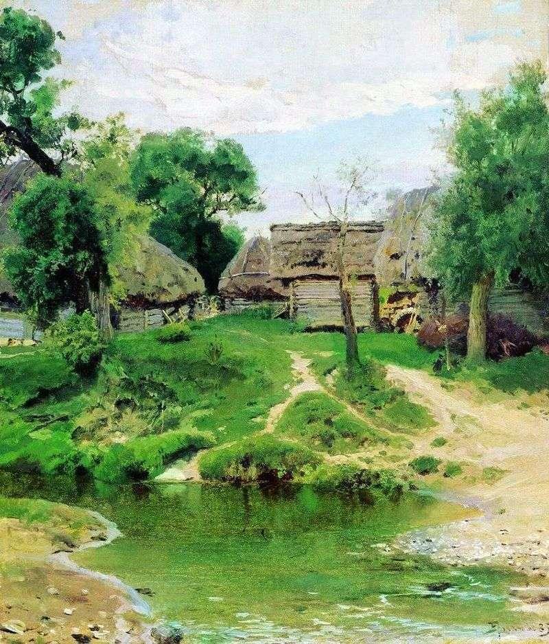 Village Turgenevo by Vasily Polenov