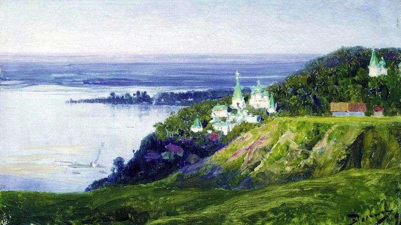 Monastery over the river by Vasily Polenov