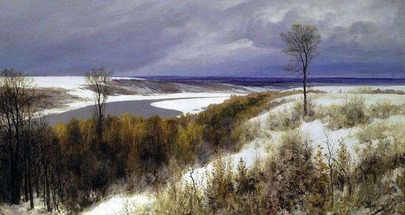 Early snow by Vasily Polenov