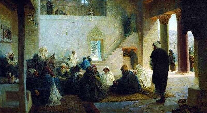 Among the teachers by Vasily Polenov