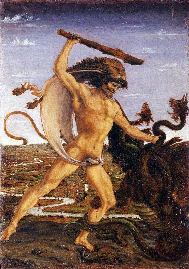 Hercules and the Hydra by Antonio del Pollaiolo