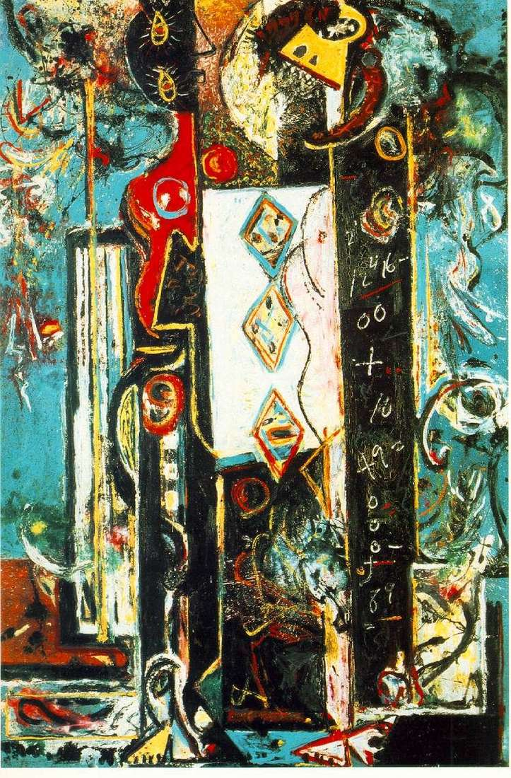 Male and Female by Jackson Pollock