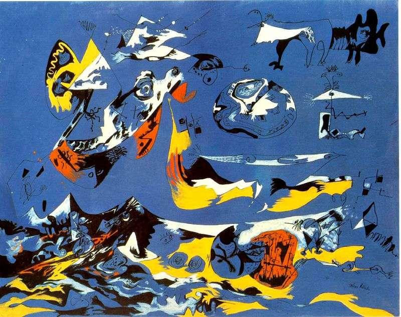 Blue by Jackson Pollock