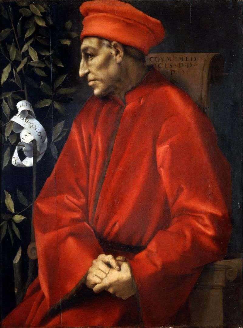 Portrait of Cosimo Senior Medici by Jacopo Pontormo