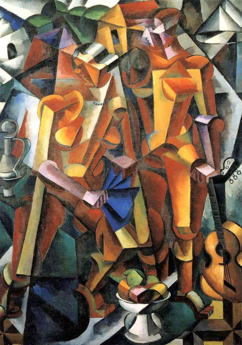 Composition with figures by Lyubov Popova