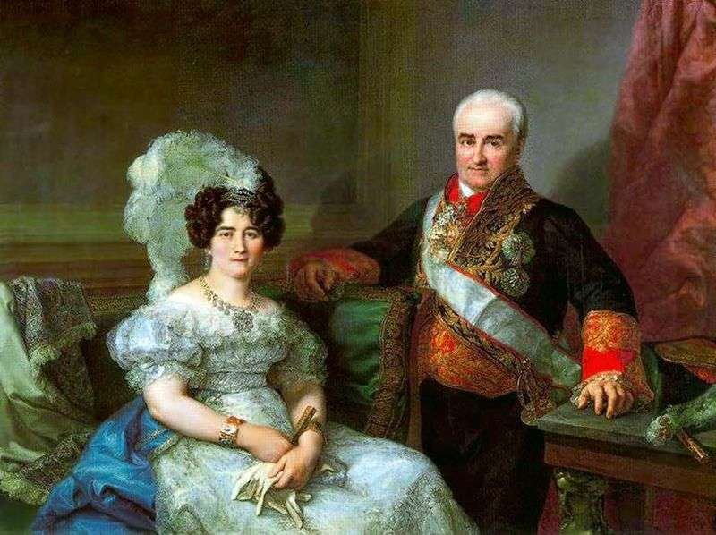 Portrait of Antonio Ugarte and his wife by Lopez Porthan