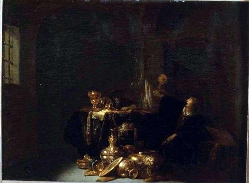 Usurer and Death by Willem de Porter