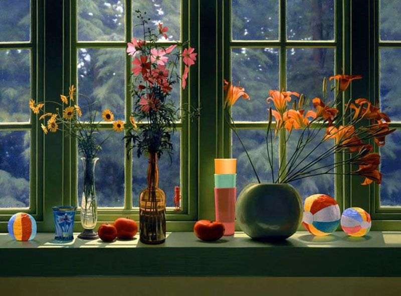 Still Life by the Window by Scott Pryor - Description of the Painting