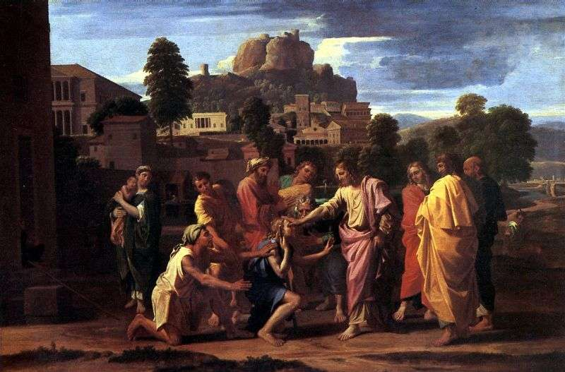 Healing the Blind by Nicolas Poussin