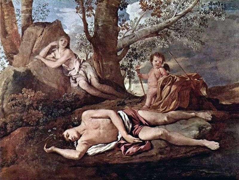 Narcissus and Echo by Nicolas Poussin