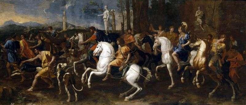 Hunting Meleagra and Atalanta by Nicolas Poussin