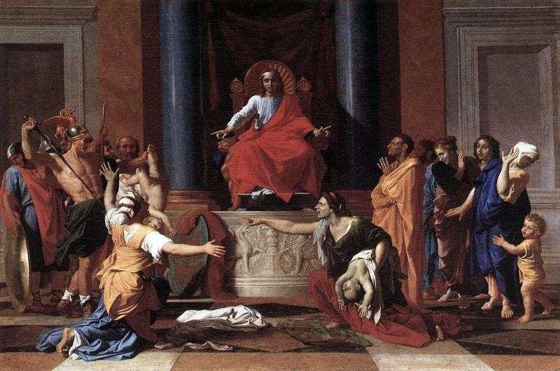The Court of Solomon by Nicolas Poussin