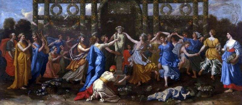 Dance in honor of Priapus by Nicolas Poussin