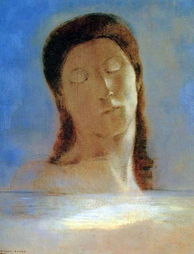 With eyes closed by Odilon Redon
