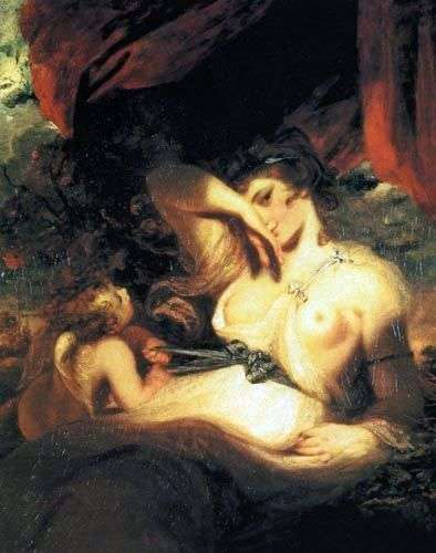 Cupid unleashes the belt of Venus by Joshua Reynolds