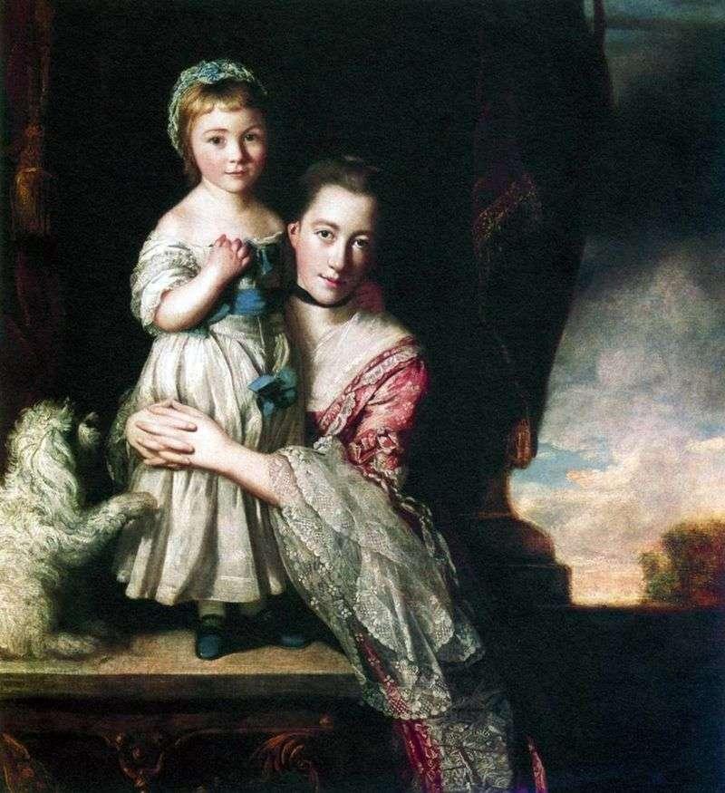 Georgiana, Countess Spencer, with daughter by Joshua Reynolds