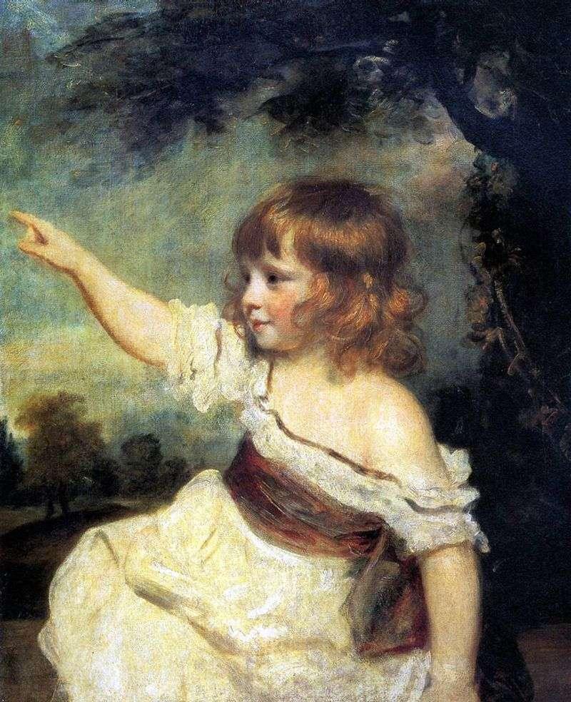 Portrait of a Lady Jones as a Child by Joshua Reynolds