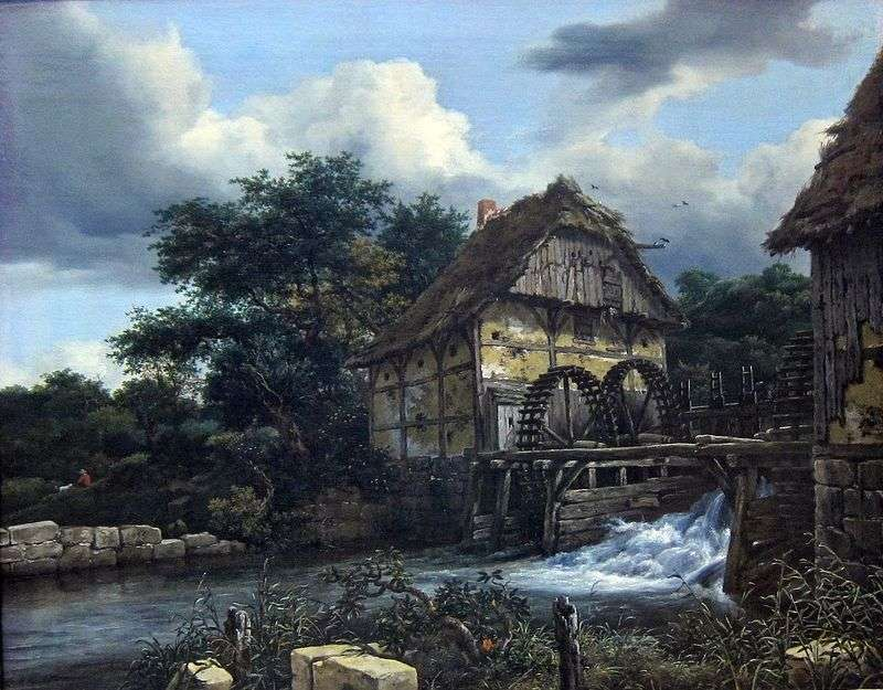 Two watermills by Jacob van Ruisdal