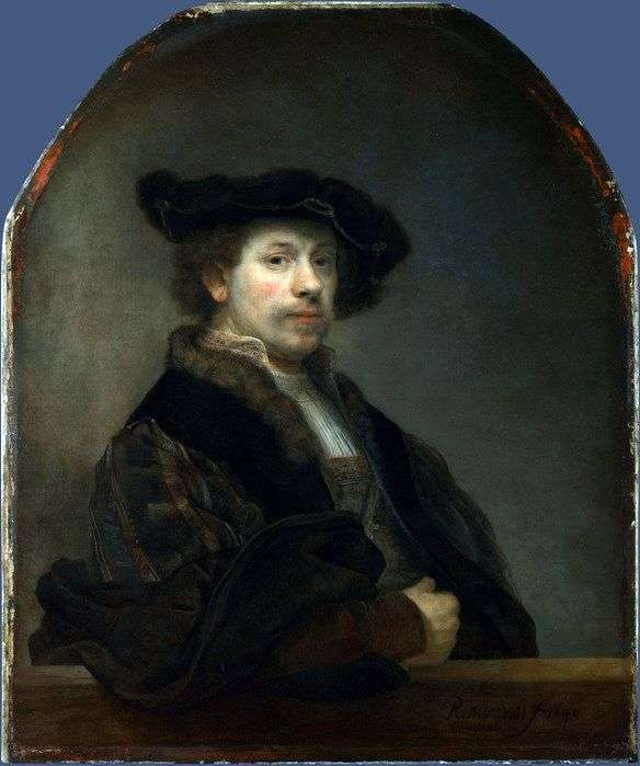 Self Portrait at the Age of 34 by Rembrandt Harmens Van Rhine