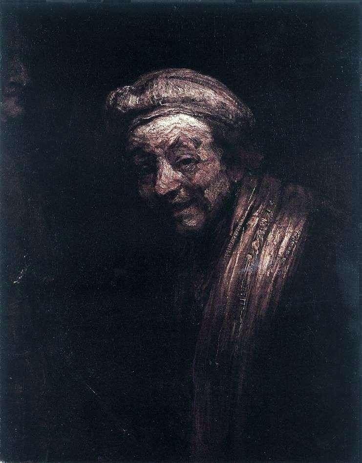 Self Portrait as Zeuxis by Rembrandt Harmens Van Rhine
